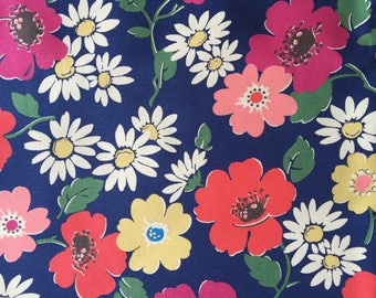 "Cath Kidston Half Yard Cotton Canvas Fabric 56"" Wide_Paradise Flower_1 DF041"