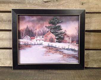 More Colors Farmhouse And Barn Winter Scene