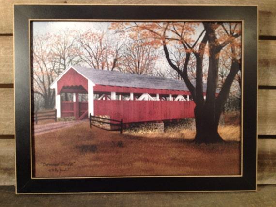 "covered bridge 12 x 16/"" Canvas Print by artist Billy Jacobs Butternut Bridge"