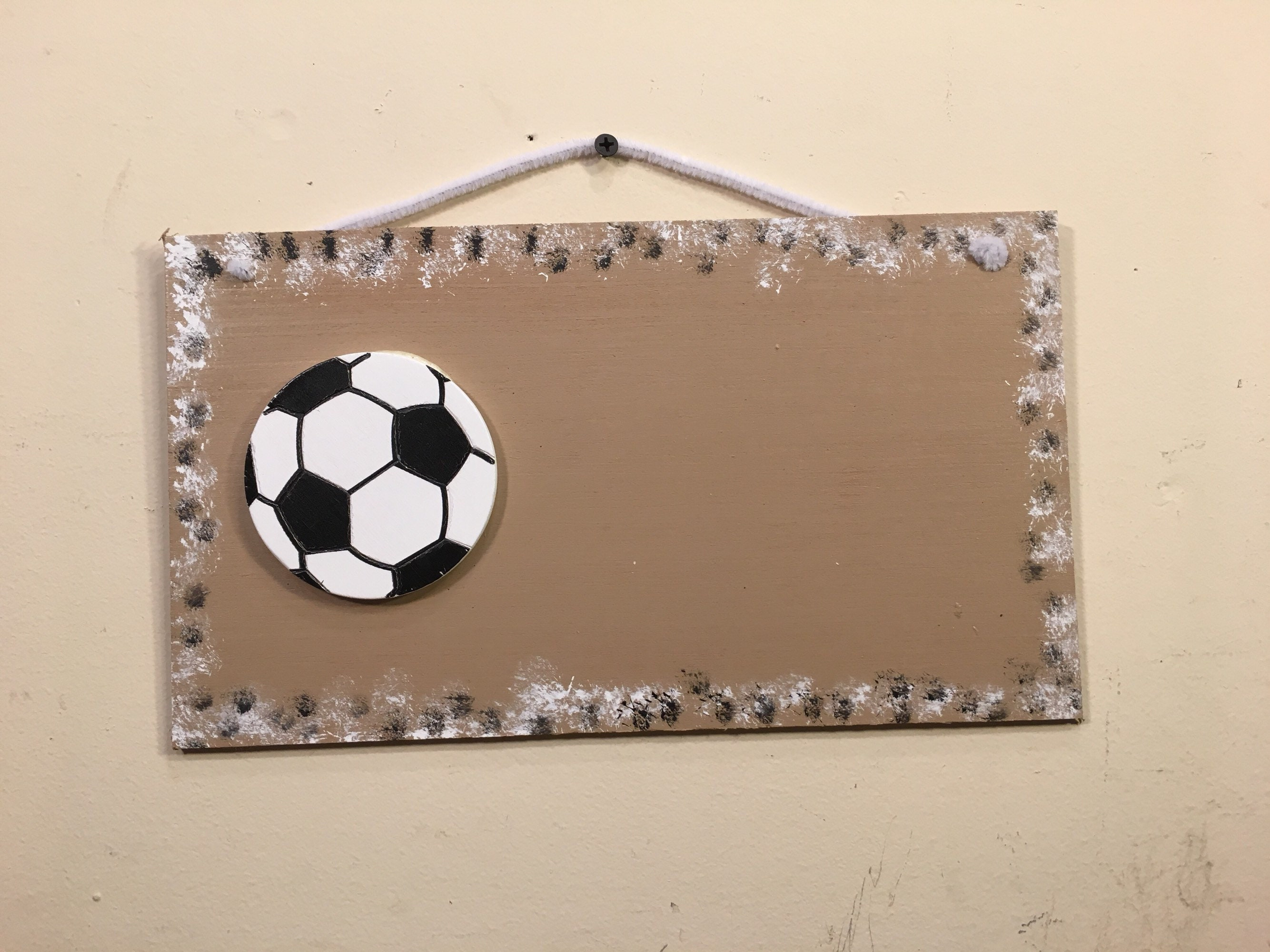 Personalized Kids Football Sign Country Primitive Decor