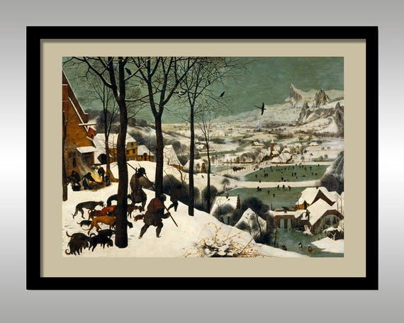 The Hunters In The Snow By Pieter Bruegel The Elder 1565 Etsy
