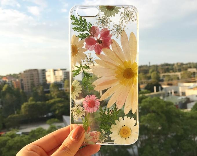 Handmade phone case/ pressed flower phone case/ preserved flower phone case/ dried flower phone case/iPhone 11 case/ iPhone 12/ 12pro max