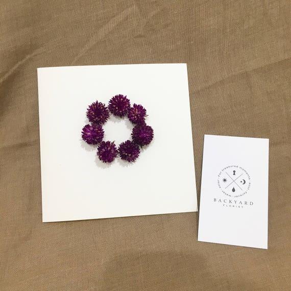 Greeting Card Handmade Customized Dried