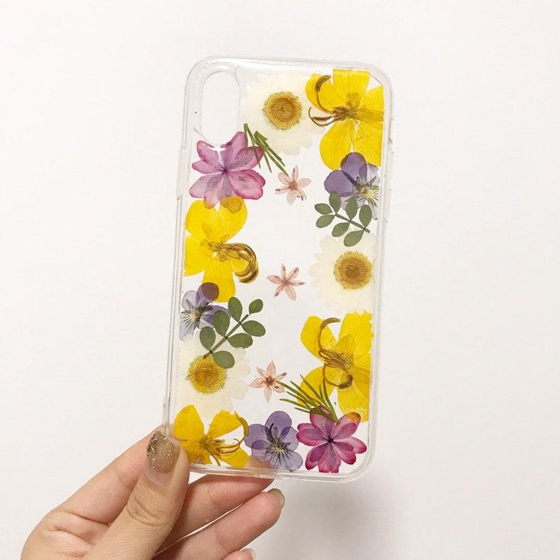 161464786af02e Handmade phone case/ pressed flower phone case/ preserved   Etsy