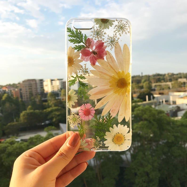 Handmade phone case/ pressed flower phone case/ preserved image 0