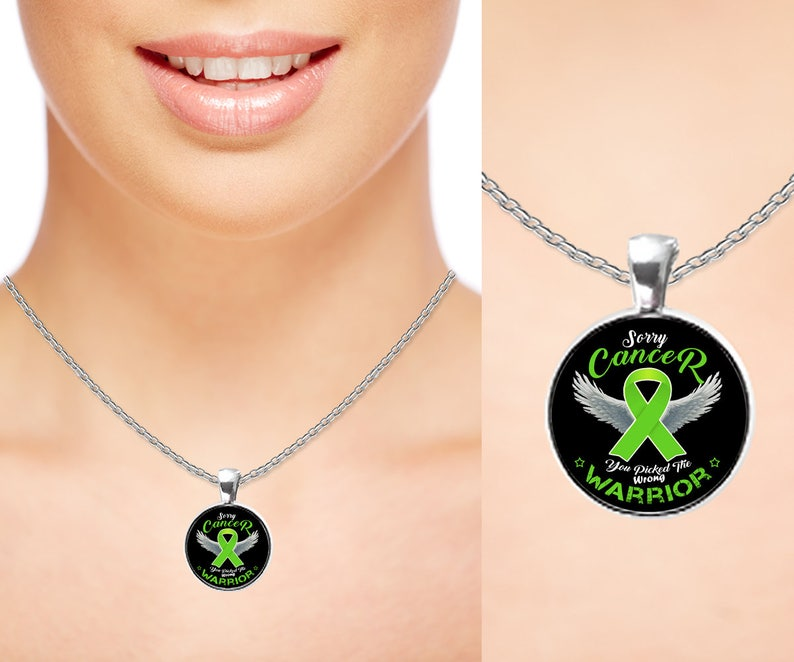 Personalized Lymphoma Cancer Awareness Charm Warrior Necklace Lime Green Ribbon Men Women Gift Pendant Silver Gold Plated Accessories
