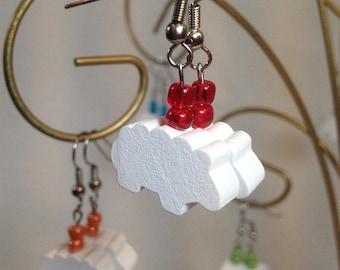 Sheep Animeeple Dangle Earrings