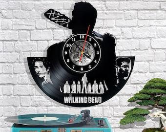 The Walking Dead Vinyl Wall Clock Record Gift Decor Sing Feast Day Art Woman