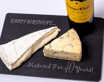 SLATE CHEESEBOARD PERSONALISED Father's Day Gift, New Home, Birthday, Wedding, Christmas, Gift for Him, Gift for Her, Laser Engraved
