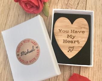 Personalised Token of Love, Heart Token, Love Token, Valentines Gift, 5th Anniversary, Gift For Her, Gift For Him