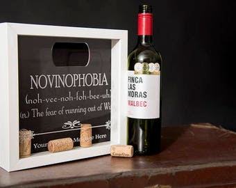 WINE CORK COLLECTOR Fun and Quirky Shadow Box Frame