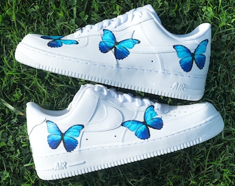 air force 1s with butterflies
