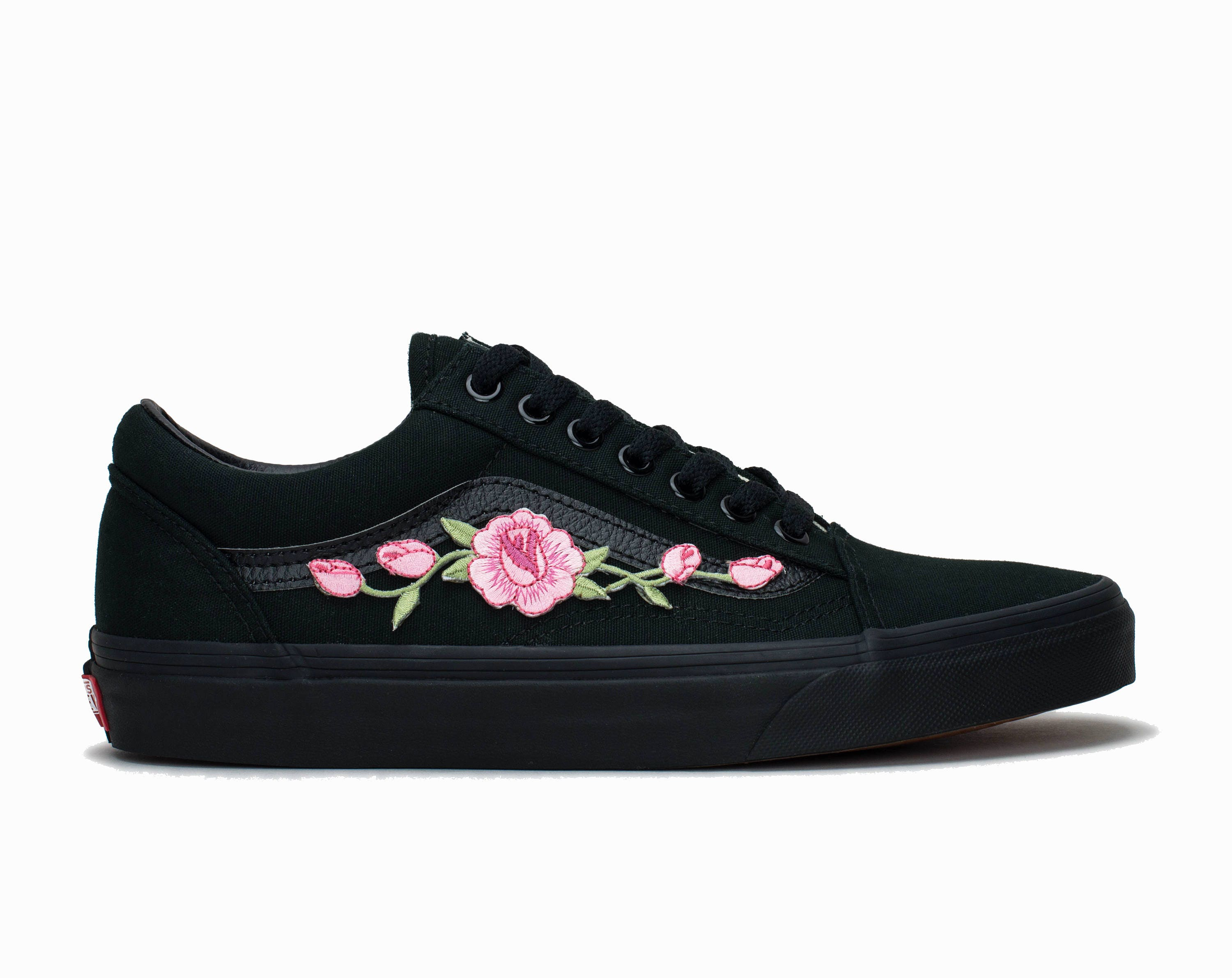 14f921b8be Vans Old Skool Custom Black  Rose Patch  EUR 34.5