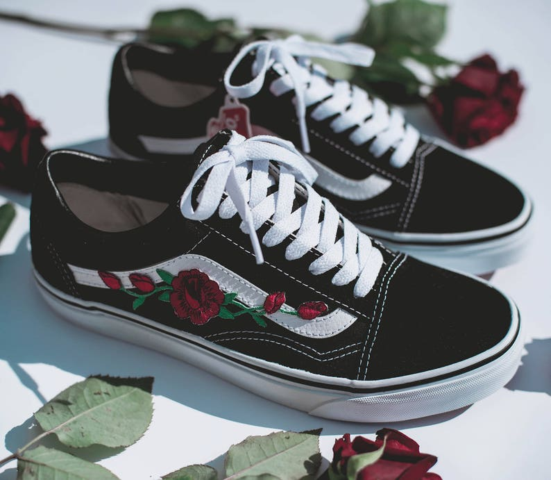 Eur Custom Rosa' 'patch 5 34 47Etsy Old Vans Skool thsCxrQd