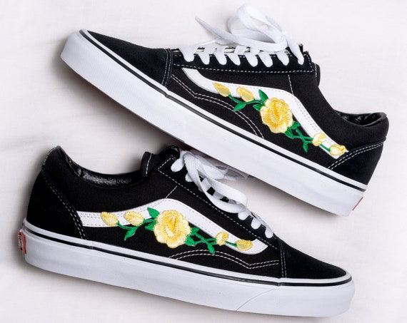 rose patch vans