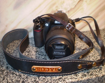 Leather Camera strap Personalized Leather Camera straps Canon Nikon Camera straps DSLR camera strap 118 сm