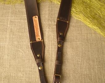 Personalized Camera strap leather Camera strap monogram Camera strap DSLR camera strap Brown Camera strap Dark Brown Camera strap