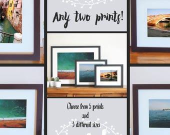 Sale! // Any 2 Venice Art Prints // Italy