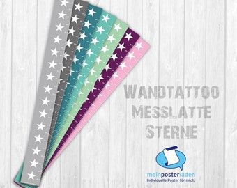 self-adhesive bar: stars - narrow   Measuring bar for children   self-adhesive scale with asterisks