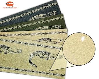 Gold Metallic - Nonwoven border: Crocodile   Vinyl fleece border with noble metallic - effect   Base price 6.45 Euro/meter