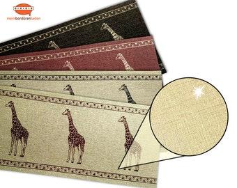 Gold Metallic - Nonwoven border: Giraffe   Vinyl fleece border with noble metallic - effect   Base price 6.45 Euro/meter