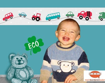 ECO Children's Border: Colorful Cars with Asterisks   Eco-friendly borders for children, basic price 4.46 Euro/meter