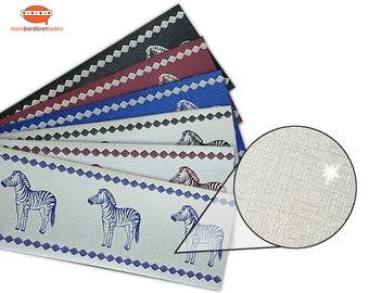 Silver Metallic - Nonwoven Border: Zebra    Vinyl fleece border with noble metallic - effect   Base price 6.45 Euro/meter