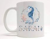 Seahorse Gifts - Seahorse Mug - Personalised Seahorse Gift - Seahorse Gift For Her - Sea Creature - Ocean Gift - Nautical Gift - Sea Theme