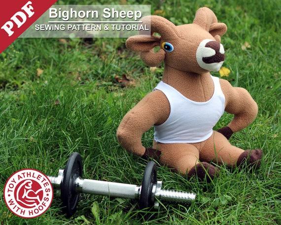 Sheep Sewing Pattern Pdf Instant Download Bighorn Sheep Diy Etsy