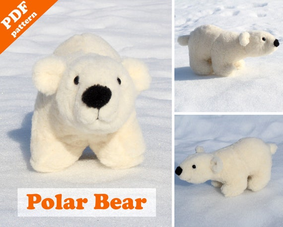 Polar Bear Sewing Pattern Pdf Instant Download White Bear Etsy