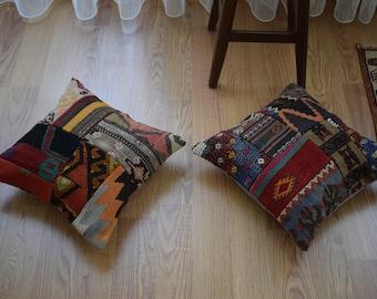 The patterns are hidden in the carpet 20 INC Oushak rug pillow Rare pattern carpet pillow Beige color rug pillow Ethnic rug pillow Ag-13