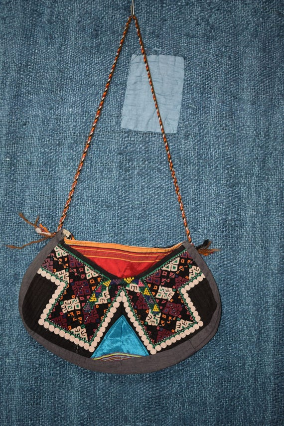 Vintage bag handwoven handmade bag Small bag Cross