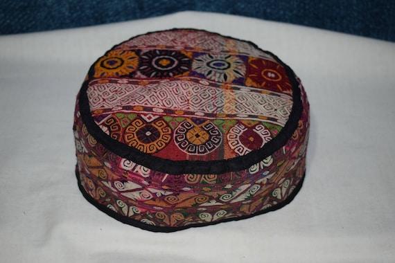 Orange hat Handwoven hat Small hat Decorative hat
