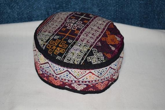Purple  hat Handwoven hat Small hat Decorative hat