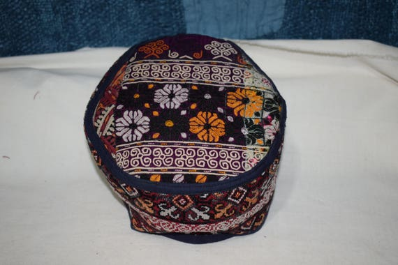 Ethnic hat Vintage hat Embroidery handmade hat Sil