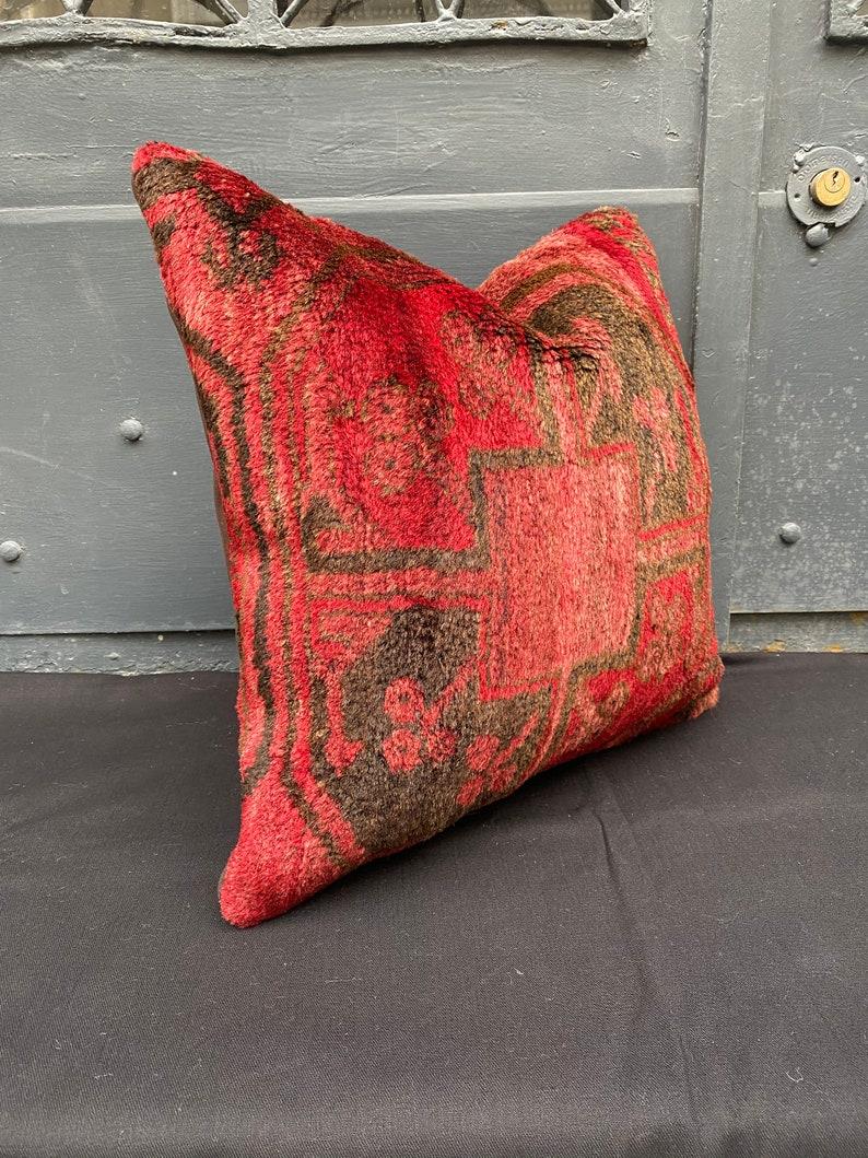 Antigue carpet pillow,rare carpet pillow,nomadic carpet pillow,dark red color pillow,home design pillow,sofa pillow,couches pillow,