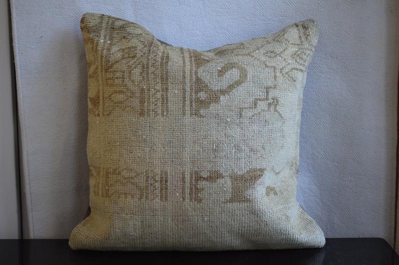 Antigue handmade rug pillow,rare pattern rug pillow,home design pillow,Anatolian carpet pillow,sofa pillow,bed pillow,couch pillow,kilim 14