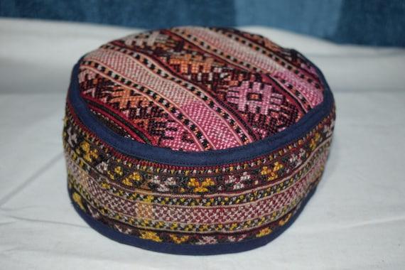 Silk hat Rare pattern hat Embroidery hat Handmade