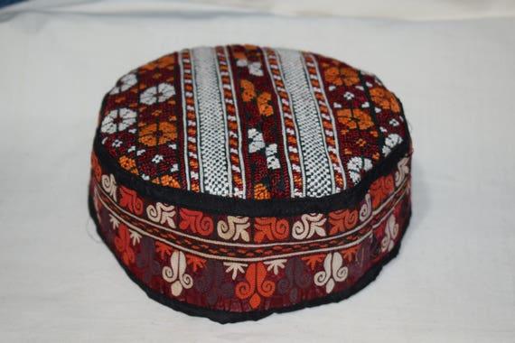 Ethnic hat Vintage hat Handwoven hat Prayer hat Co