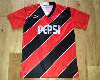 Puma Germany 1980s Jersey Game Worn Shirt Adult XL retro Vintage made in  Germany Number 12 - Pepsi 821d5cd4e