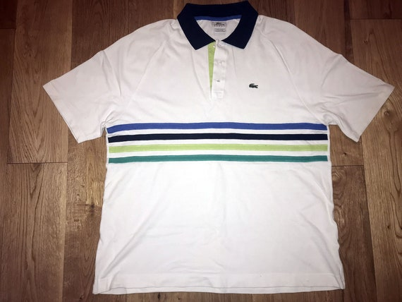 36ac527a4882c Items similar to Lacoste White Polo Shirt T-Shirt France Brit Pop ...