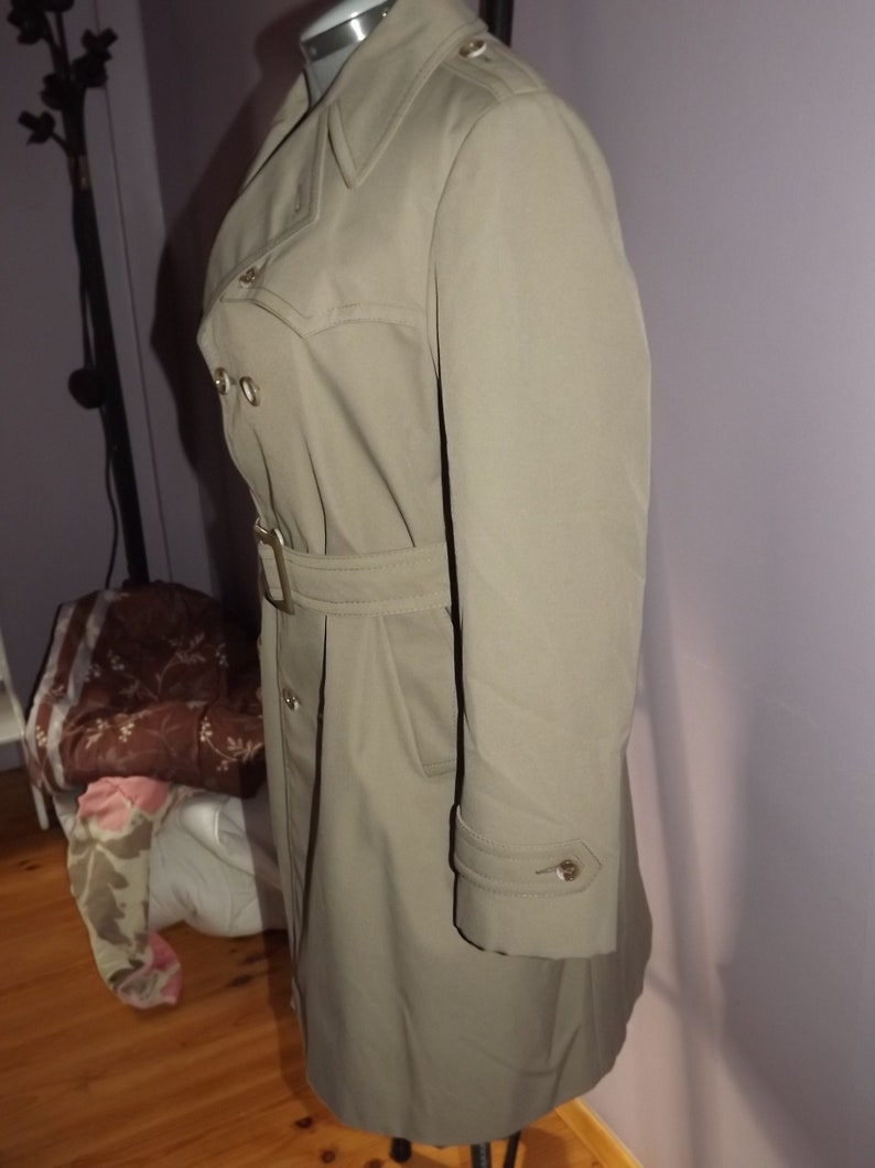 Male Trench Coat Akylon Rain Coat Mac Classic Paris Fashion Trenchcoat Vintage French Trench Coat Akylon Paris