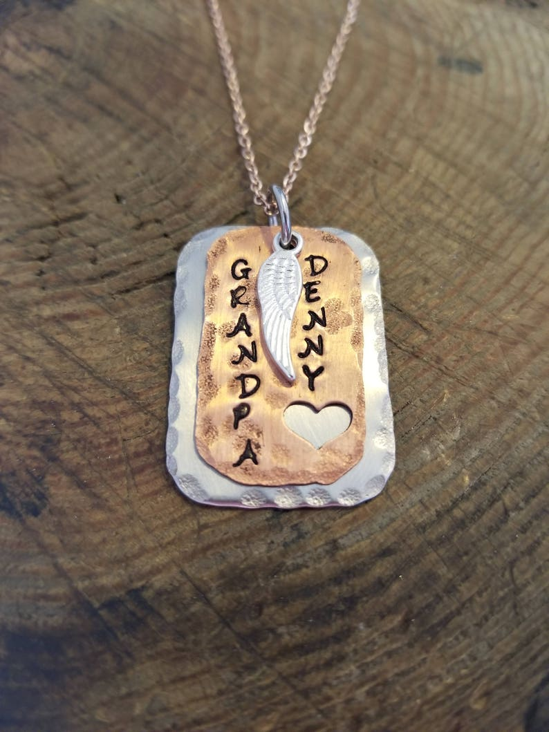 Hand Stamped Dog Tag Custom Engraving Personalized Jewelry