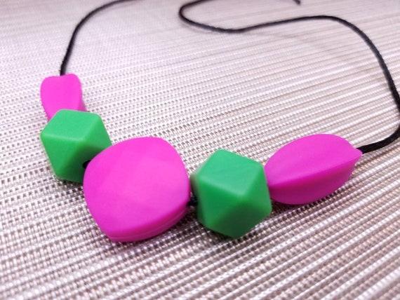 Twist Autism ADHD Sensory Chew Silicone Necklace Pendant BPA Free UK Seller