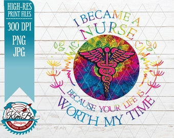 Details about  /I Became A Nurse Because Your Life Is Worth My Time Sticker Portrait