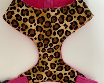 Dog Harness, Leopardess, Animal Print