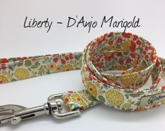 Liberty Dog Lead, D'Anjo Marigold, Floral Dog Lead