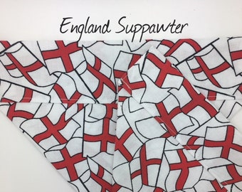 England Flag Dog Bandana, England Suppawter