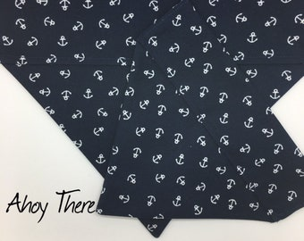 Nautical Dog Bandana, Ahoy There, Anchors Neckerchief