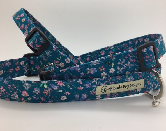 Liberty Dog Collar, Lily-Mae, Floral Dog Collar, Liberty London Collar, Liberty Print Collar